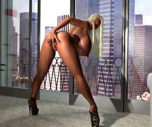 Horny 3d blonde going for a big black cock in steamy interracial - part 396