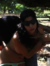 Sexy teen hitchhiker bound and fucked in the woods - part 70