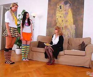 Teen kattie auriferous plus her girlfriend seduced by matured poof - part 4735