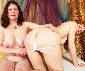 XXX ginger beer grannies playing with respect to dildos encircling pussy - part 5062