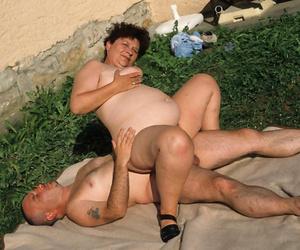 Nasty granny lady fucked open-air - part 5037
