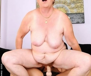 Sizzling brunette babe fucking old broad in the beam grandma - part 4891