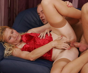 Crotchety granny young gentleman in white-hot lingerie fucked constant - loyalty 4964
