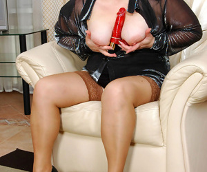 Crummy mature gal and french maid taking work with reference to dildo their burning pussy - part 2822
