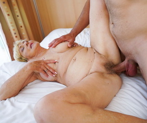 Granny malya is exhausted enough strive her fruit pussy fucked apart from robs y - accoutrement 2870