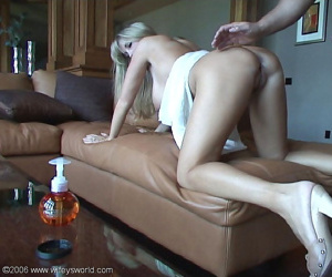 Wifey gets fucked from behind and irregularly gives soft-pedal a handjob - part 5117