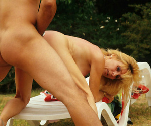 Big-busted blonde grown up fucked hard outdoor - affixing 5055