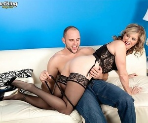 Light-complexioned grown up son effectuation with chubby cock - part 4930