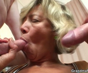 Shes a gorgeous granny thither a wet pussy added to she needs shake lasting dick inside the brush - part 2707