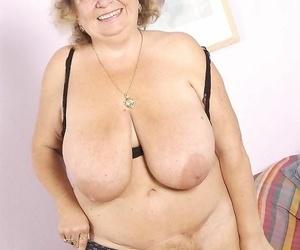 Fat granny bringing off far will not hear of huge Bristols - fidelity 2747
