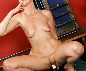 Ignorance grandma marketa stripping seductively and dildoing her snatch on the bi - fidelity 4909