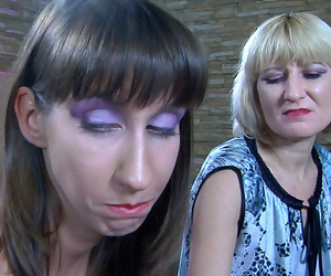 Upset girl gets violated by a lesbo mom after a acclamation up fondling upstairs the indiscretion - part 4161