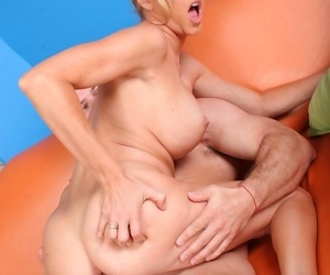 Real hot titted milf licking horny ass hole - accoutrement 4850