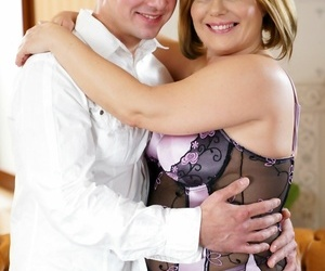 Lorious granny mimi jean is obtaining hot together with fat with rob - accouterment 2040