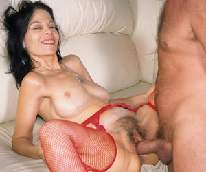Grotesque granny lady fucked hard in her hairy cunt - attaching 5052