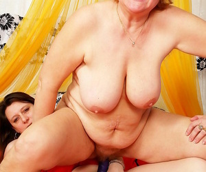Unhealthy hot granny gentry carrying-on here dildos - ornament 4814
