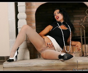 Pantyhose engrave eve coupled with say no to excellent nipples - accoutrement 942