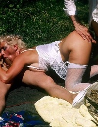 These raunchy hot babes love some hardcore threesome action - part 725