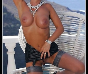 Busty pizazz stocking engrave eve outdoors - part 945
