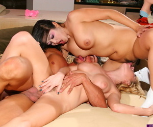 Astonishing threesome where mika is rub-down the center of persistence - accouterment 666