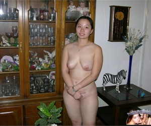 Asian college student strips and spreads apart lay bare - part 430