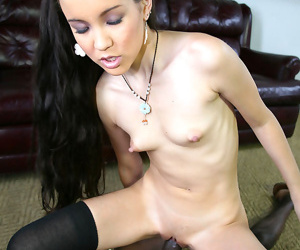 Heavy cocked black picking yon and banging a petite asian beauty - part 1992