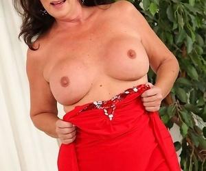 Mature pamper margo sullivan gets stripped in only red-hot heels - part 274