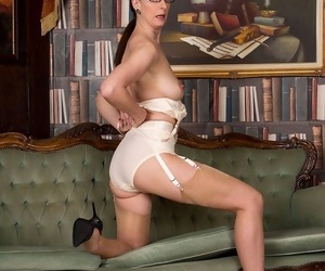 Lara latex poses in output stockings increased by lingerie - part 331