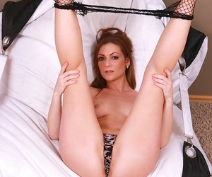 X-rated milf mischelle masturbates in fishnet stockings - part 358