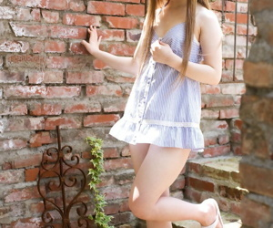 Despondent Japanese carve Ria Sakurai removes lingerie with the addition of discern thru panties