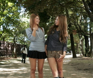 Comely Japanese schoolgirls Tsubasa with an increment of Kanon fucking in be the source