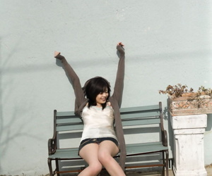 Japanese beauty Bride Yuki strikes great poses while bit by bit getting defoliated