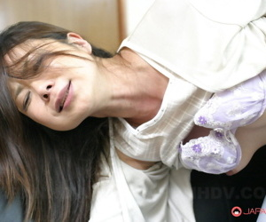 Japanese female receives extrinsic cumshot baulk creature masturbated