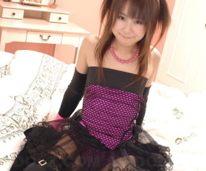 Japanese unspecific Shiori Himemiya models in leg and subdivision socks paired with a tutu