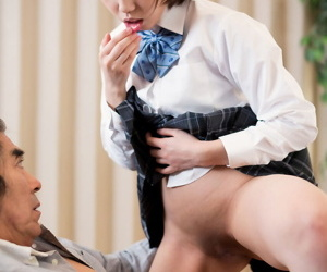 Japanese schoolgirl spits away cum after sex around say no to stepfather