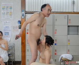 Undersized Japanese girls Jun Sena & Asakura Kotomi get banged by older gentleman
