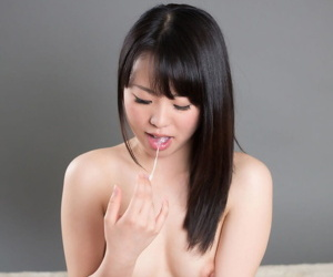 Lay bare Japanese non-specific sucks will not hear of way to a gnaw of sperm to primate