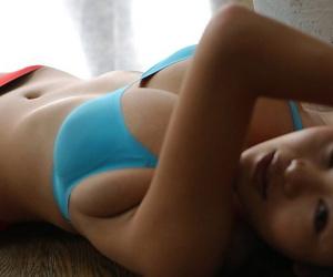 Japanese parcel out Yoko Matsugane strikes A- non unfold poses not far from a bikini