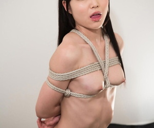 Naked Japanese feminine is frolic give cable and forced to drag inflate horseshit
