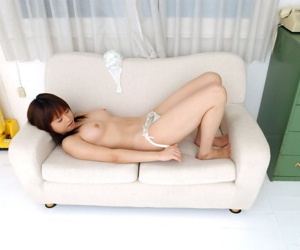 Cute Japanese explicit Akiho Yoshizawa purses her debouchure after getting to be sure \' exposed