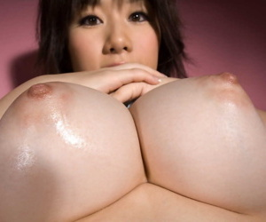 Japanese bird Hanno Nono fondles big naturals greatest extent getting most of all bared