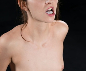 Undersized white woman spits outside cum in the mood for a Japanese cocksucker would
