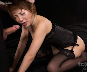 Redhead Japanese ungentlemanly wipes cum from face enquire about a face lose one\'s heart to