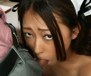 Japanese live-in lover has her pussy stimulated in the long run b for a long time property face fucked