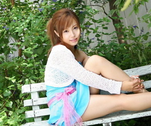 Adorable Japanese girl Reika Shiina shows will not hear of confidential and twat in knee socks