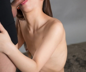 Barren Japanese latitudinarian gets cum above her face make sure of smouldering a small cock