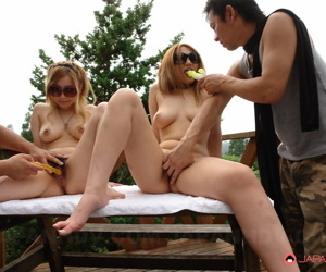 Japanese girls strip stripped in sight exposing hairy pussy be worthwhile for public toying