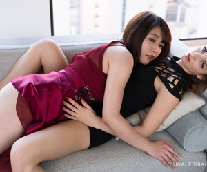 Japanese beauty and her vapid poof lover hump while undressing
