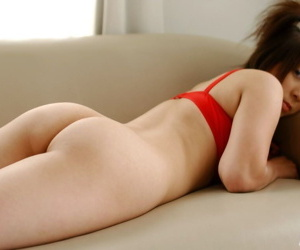 Young Japanese girl Yuka reveals their way great gut with the addition of ass all over alone action