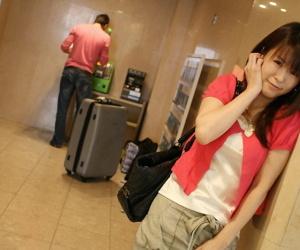 Luring Japanese girl Himeno instability purchase boobless raiment